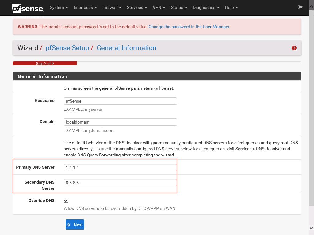 pfSense web configuration part 4
