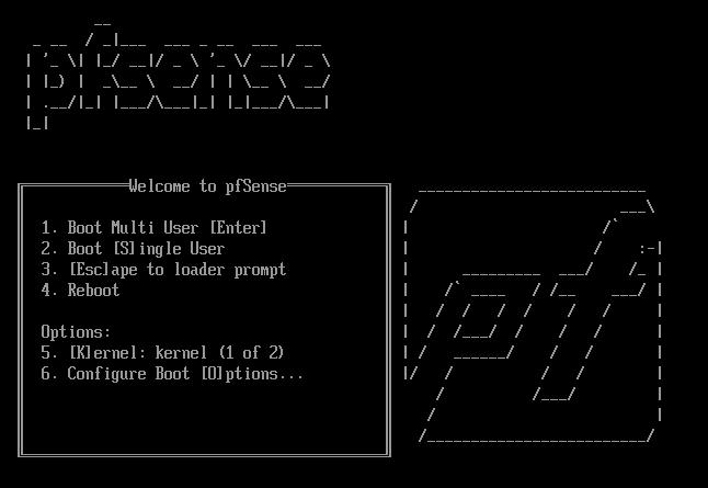 pfSense Install Boot Menu