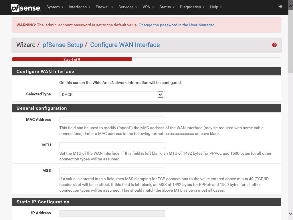 pfSense web configuration part 6