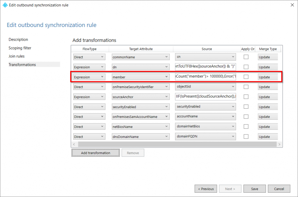 AD Connect Synchronization Rules Editor