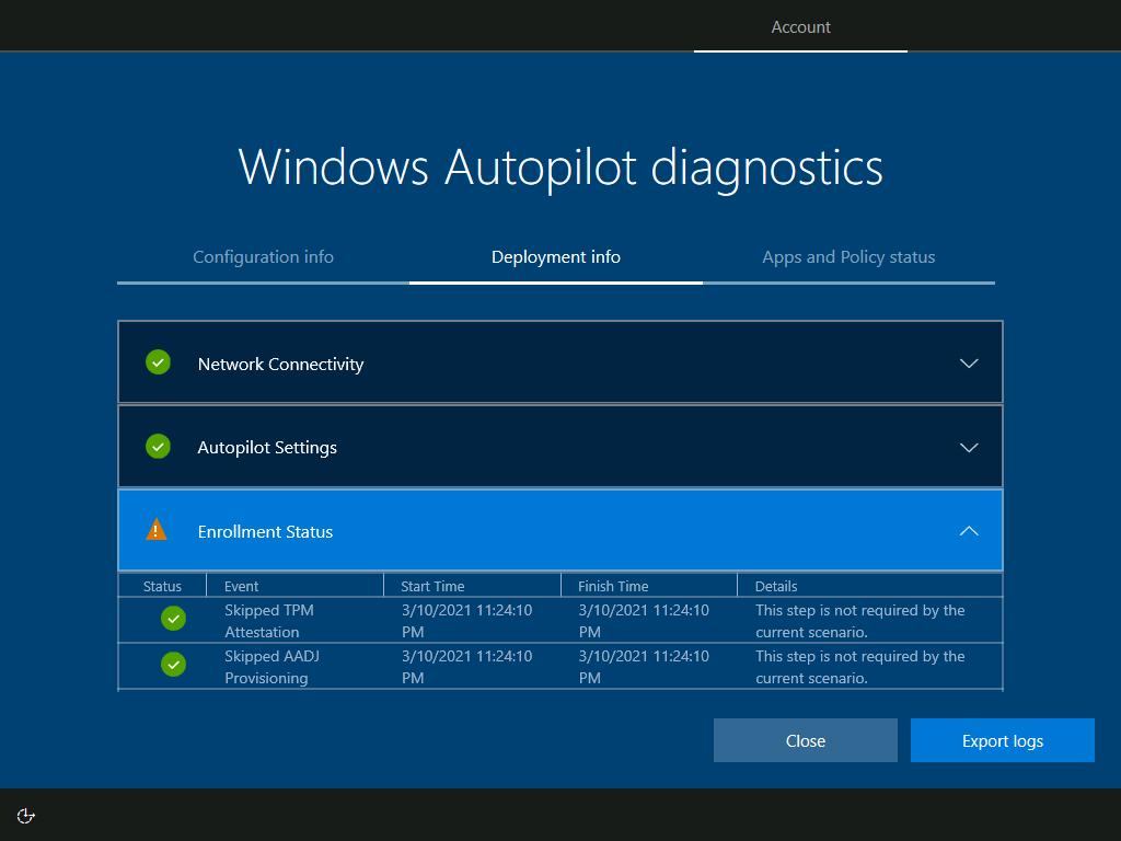 Read more about the article Windows Autopilot Diagnostics