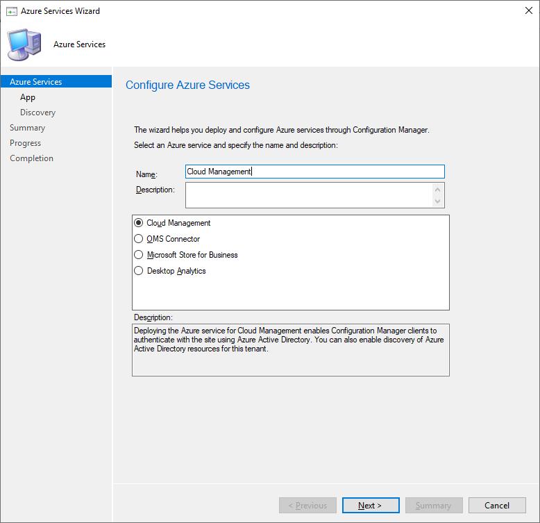 Configure Azure Services part 1