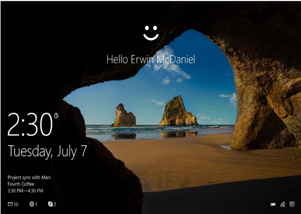 Windows Hello on Windows 10.