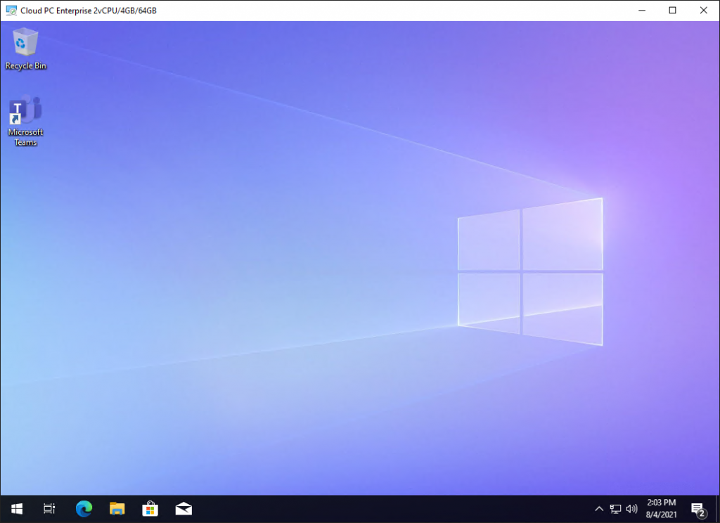 Windows 365 User Experience