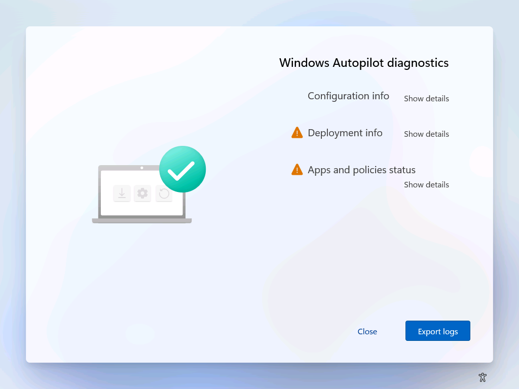 Windows AutoPilot Diagnostics Page